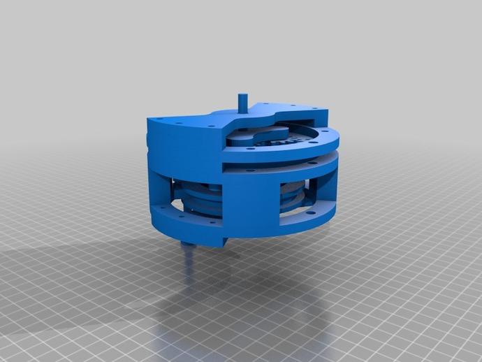 行星齿轮变速器 3D打印模型渲染图