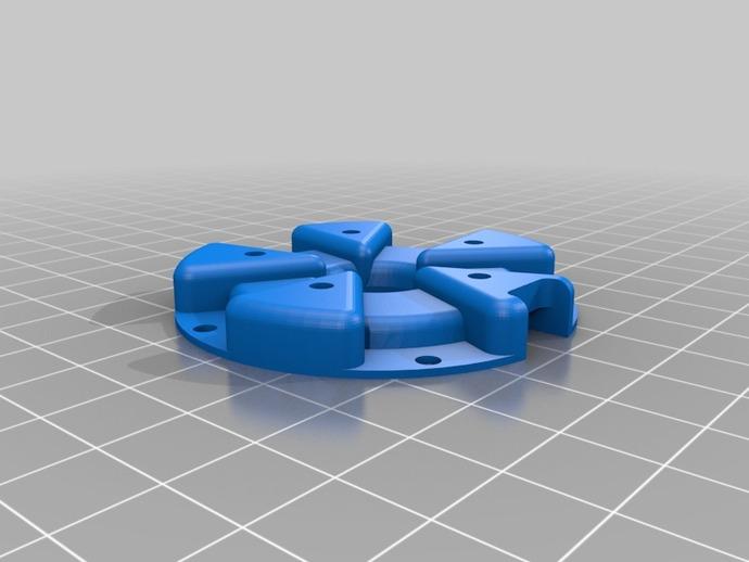 风向标 3D打印模型渲染图