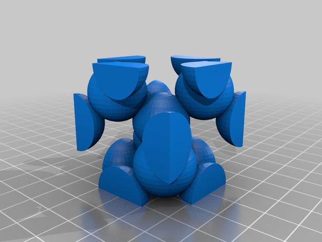 金刚石晶格结构模型 3D打印模型渲染图