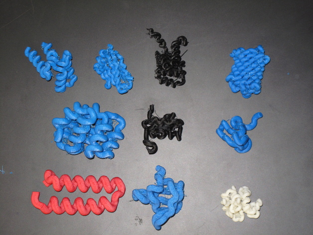 蛋白质结构模型 3D打印模型渲染图