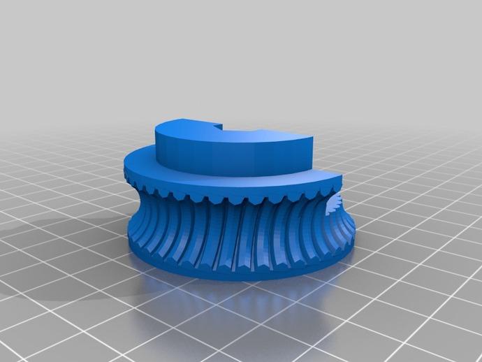 线性驱动涡轮机 3D打印模型渲染图