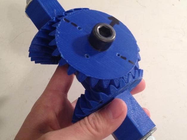 机械臂接口 3D打印模型渲染图
