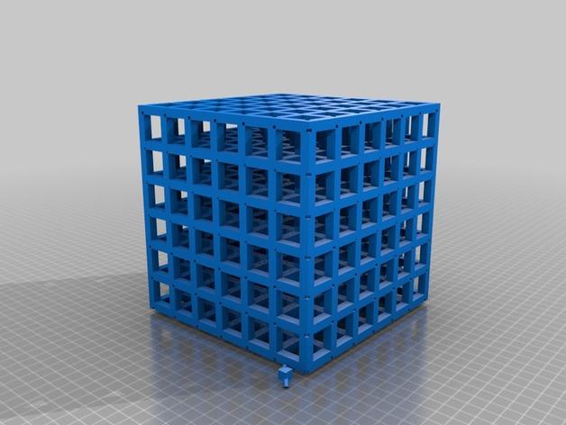正方体 数学模型 3D打印模型渲染图