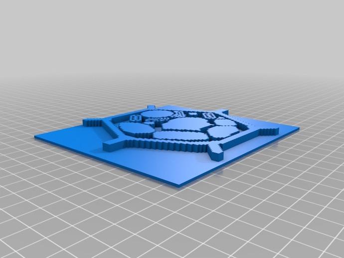 植物细胞模型和动物细胞模型 3D打印模型渲染图