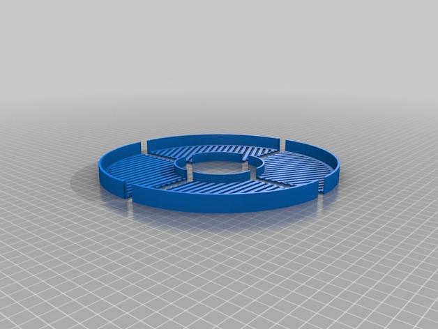 鱼骨对焦板 Bahtinov面罩 3D打印模型渲染图