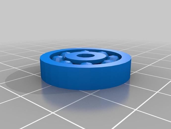滚珠轴承 3D打印模型渲染图