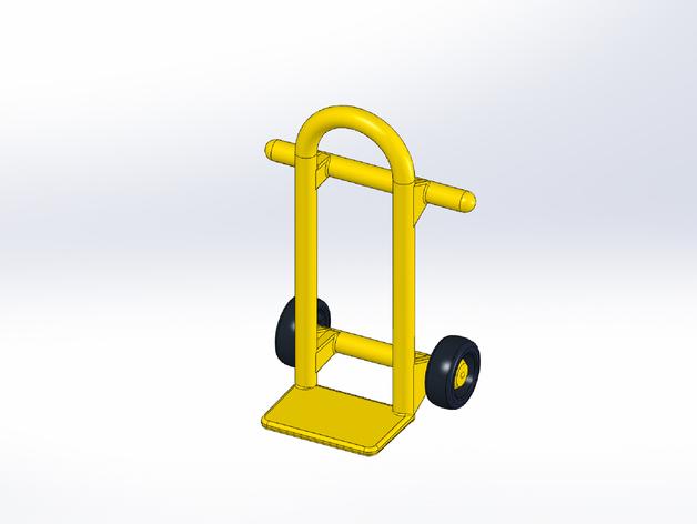 Rokenbok手推车模型 3D打印模型渲染图