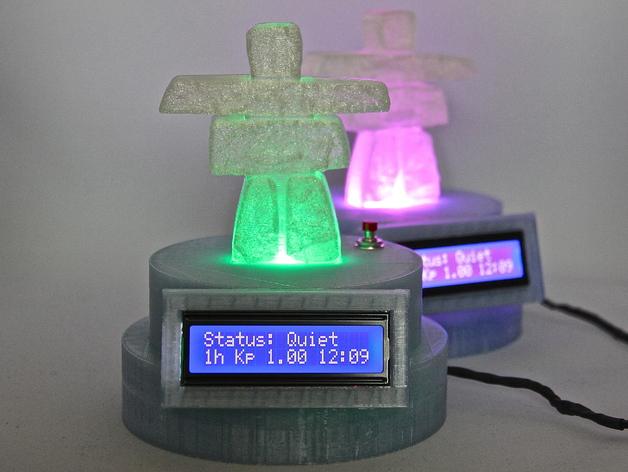 极光监控仪 3D打印模型渲染图