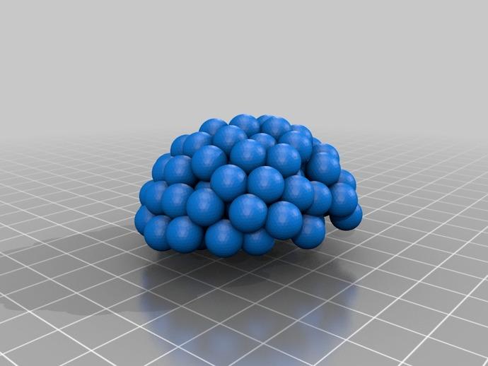 铀核原子模型 3D打印模型渲染图