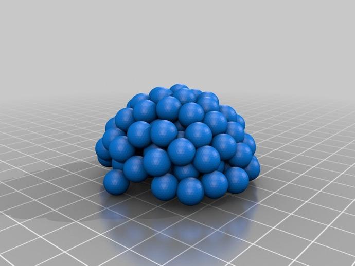 铀核原子模型