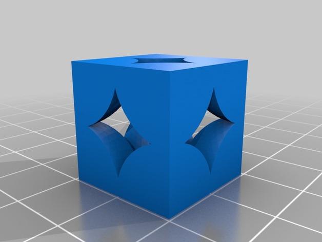 立方晶格模型 3D打印模型渲染图