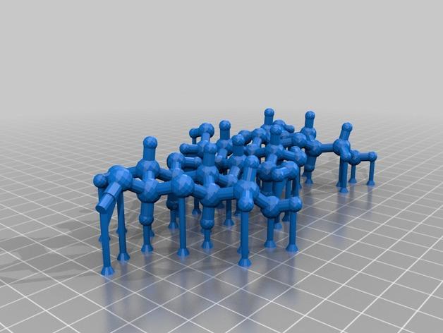 纤维素分子链模型