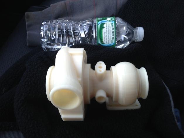 涡轮增压器 3D打印模型渲染图