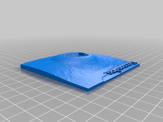 加拉帕戈斯群岛 火山 地形图模型