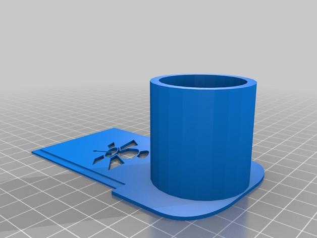 天文摄影望远镜目镜支架 3D打印模型渲染图