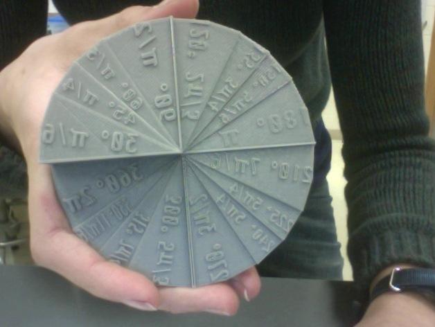 单位圆 圆 3D打印模型渲染图