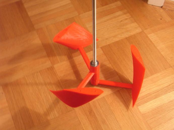 立式涡轮机 3D打印模型渲染图