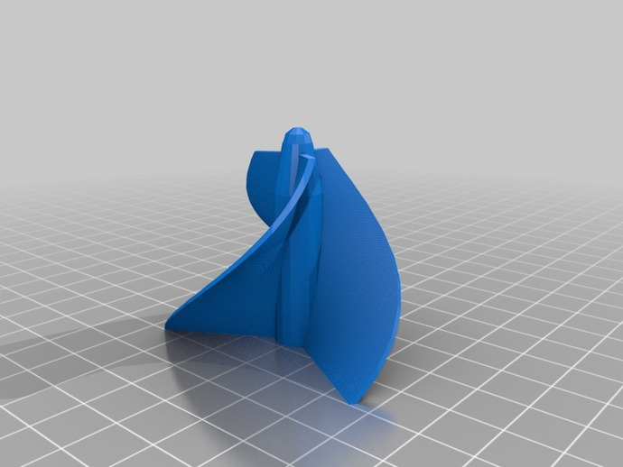 水轮机叶片 3D打印模型渲染图