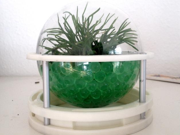 球形无土栽培器皿支撑架 3D打印模型渲染图