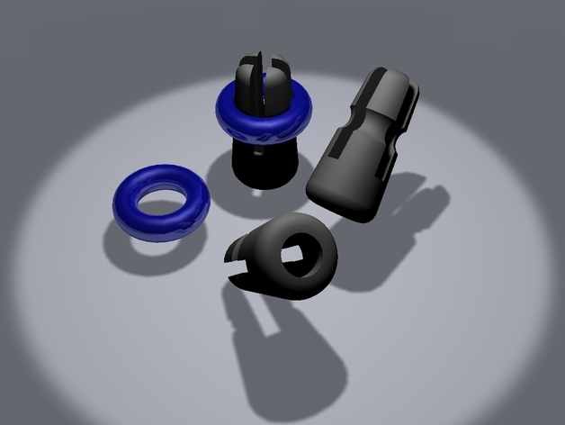 导线夹 导线环 3D打印模型渲染图