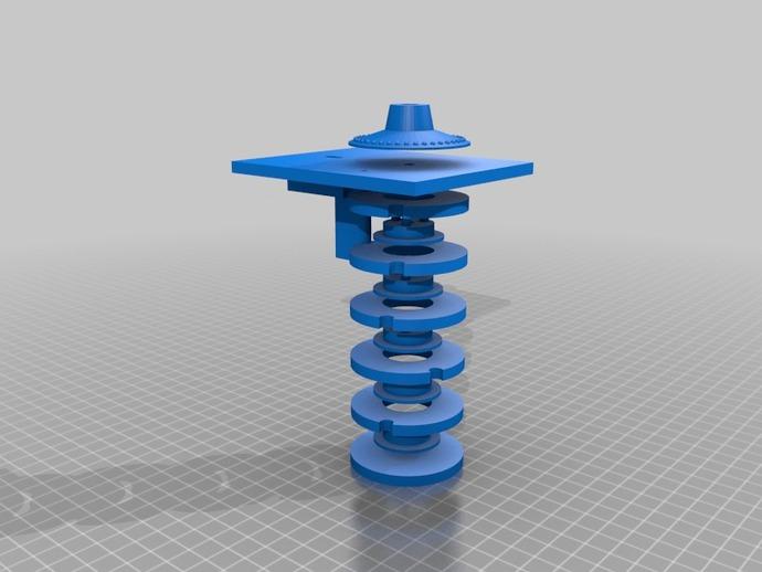 号码锁 数字密码锁 3D打印模型渲染图