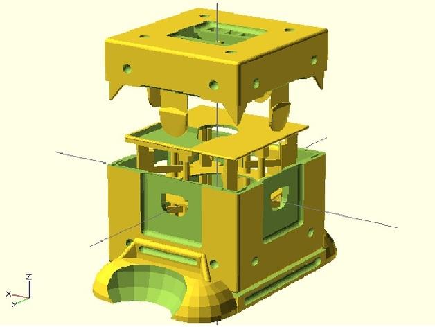 Fukushima发电机 3D打印模型渲染图