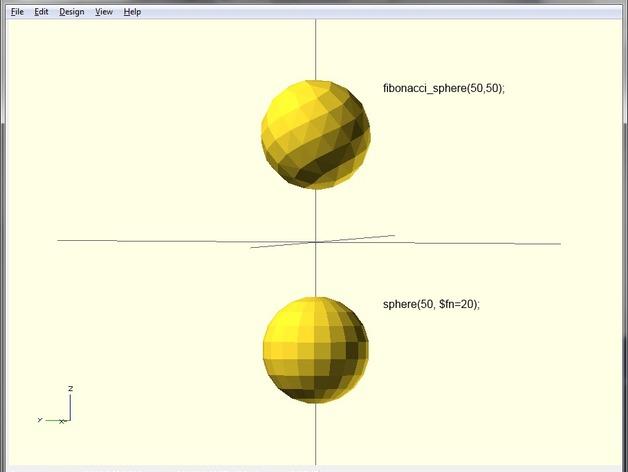 斐波那契球体 3D打印模型渲染图