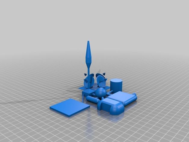 火星基地模型 3D打印模型渲染图