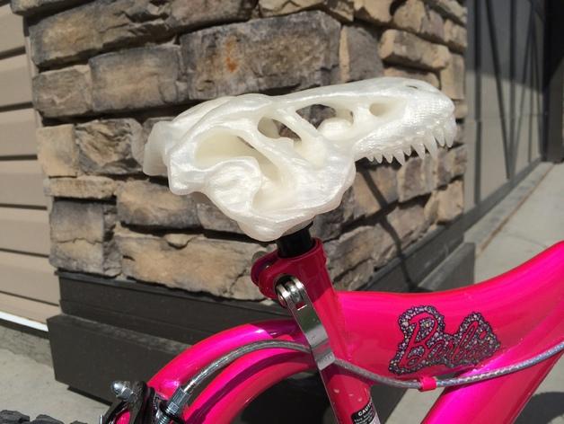 恐龙头自行车座垫
