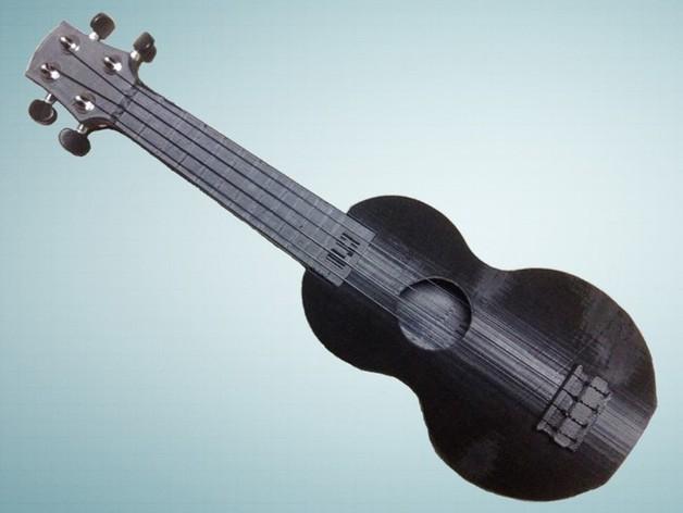 乌克丽丽四弦琴 3D打印模型渲染图