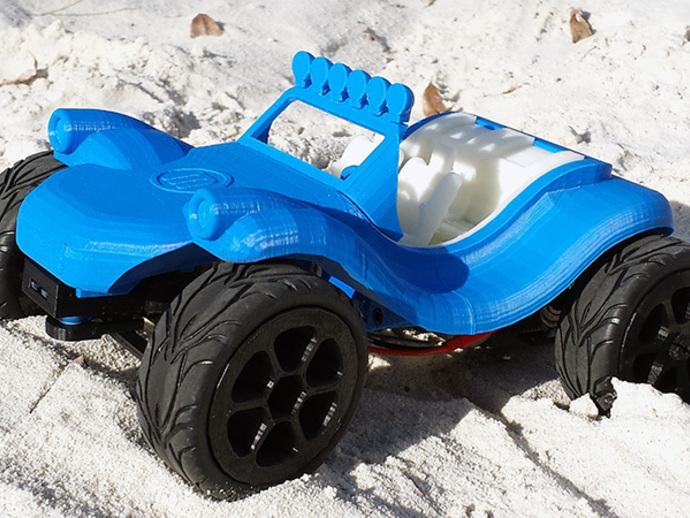 沙漠越野车 3D打印模型渲染图