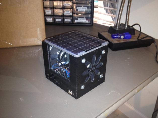 迷你太阳能小盒子 3D打印模型渲染图