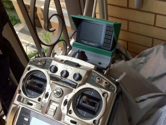 Futaba FF9遥控器DVR支架 3D打印模型渲染图