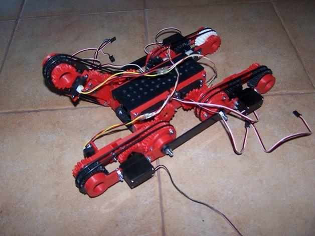 D-Track移动机器人 3D打印模型渲染图