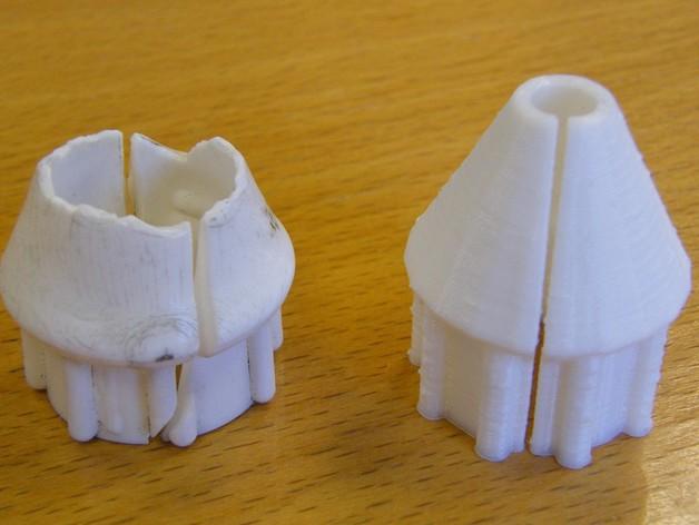 套筒螺母保护罩 3D打印模型渲染图