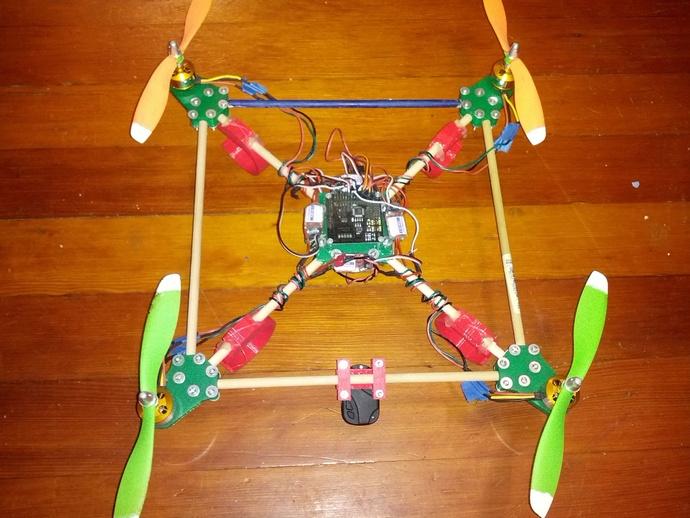 MultiWii四轴飞行器 3D打印模型渲染图
