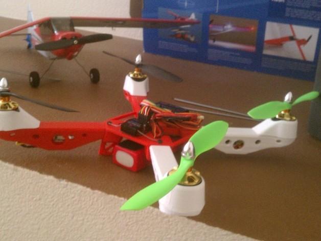 Mk3四轴飞行器 3D打印模型渲染图