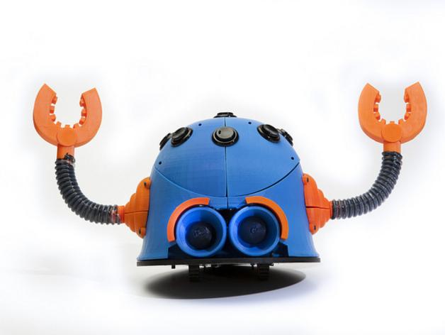 Button Bot机器人 3D打印模型渲染图