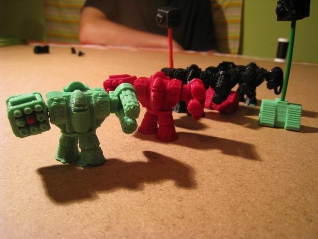 模块化参数机器人 3D打印模型渲染图