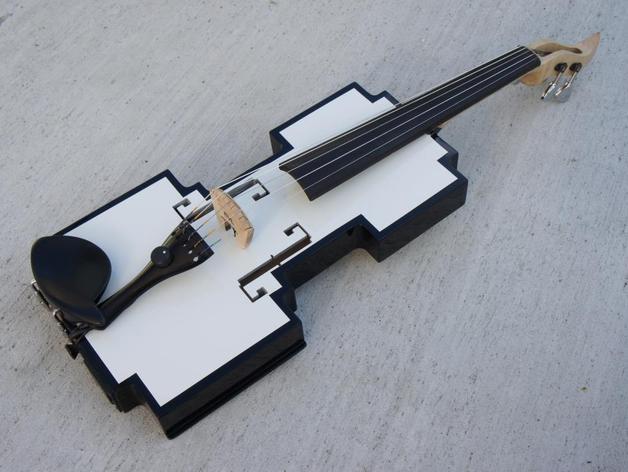 迷你小提琴 3D打印模型渲染图