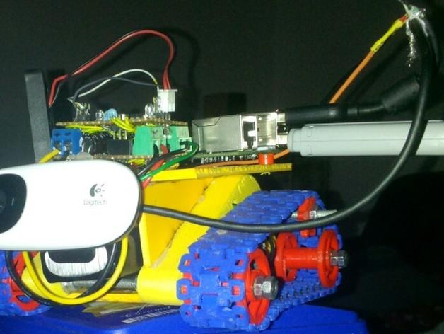 坦克形机器人 3D打印模型渲染图