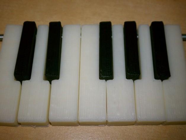 电子琴键 3D打印模型渲染图