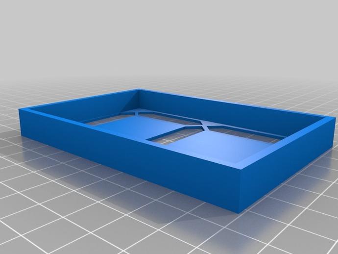 大型4寸7段显示器 3D打印模型渲染图
