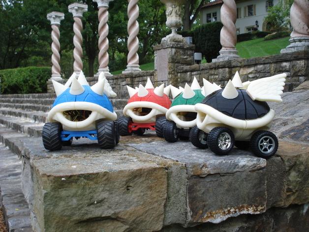 高性能龟壳赛车 3D打印模型渲染图