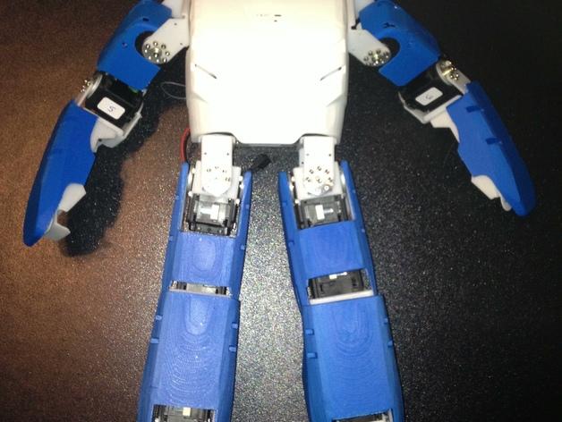 DArwln-OP机器人的支架及组件 3D打印模型渲染图