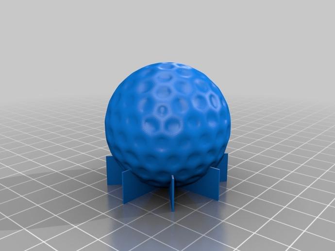 高尔夫球 3D打印模型渲染图