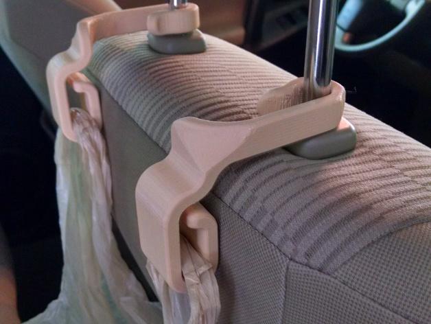 车后座垃圾袋悬挂钩 3D打印模型渲染图