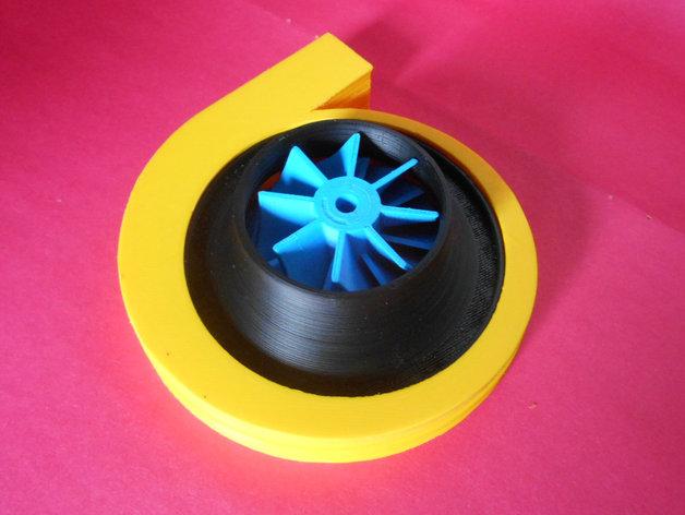 离心式压缩机 3D打印模型渲染图