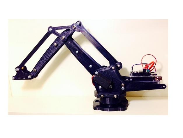 机械臂架 3D打印模型渲染图
