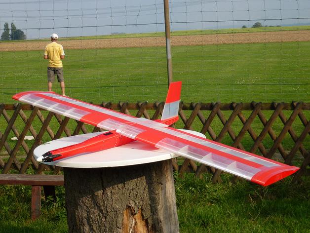 """""""红色的天鹅""""——最大的全打印滑翔机 3D打印模型渲染图"""